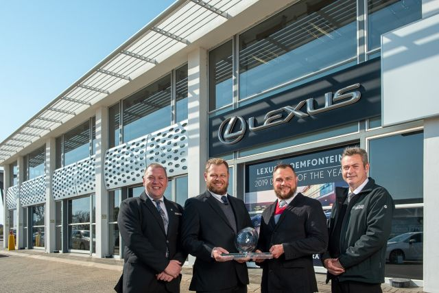 Lexus Bloemfontein awarded top dealer of the year 2019